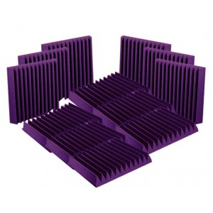"SET Auralex Acoustics 2"" StudioFoam Wedges Purple"