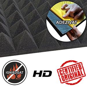 Burete piramidal autoadeziv ignifugat HD