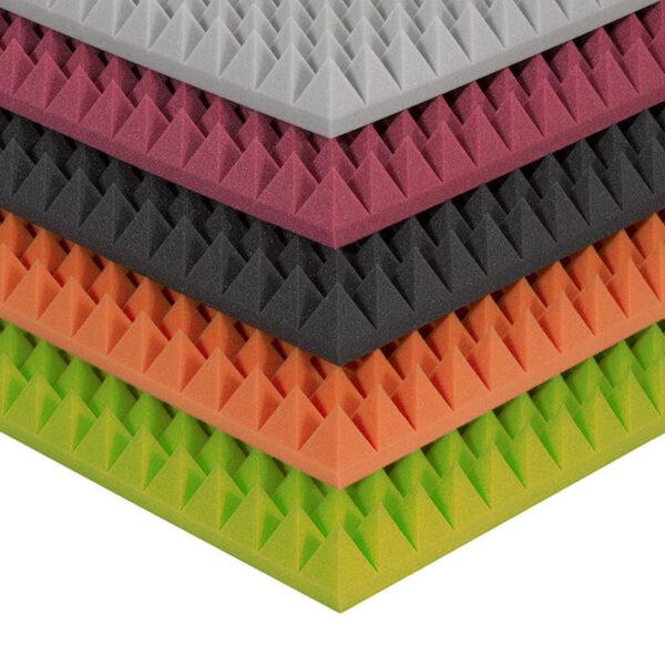 Burete antifonic piramidal colorat