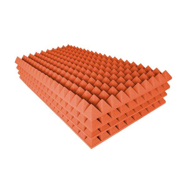 burete de studio cofrag piramidal portocaliu